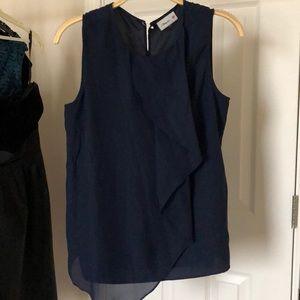Chiffon Navy Blue Blouse